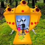 Rescue Alien Couple From Coniferous Forest