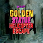 Golden Statue Helicopter Escape