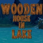 Wooden House In Lake