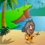 Hungry Cave Man Escape 2