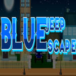 Blue Jeep Escape