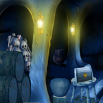 Blue Treasury Cave Escape 2