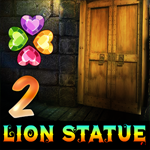 Two Lion Statue Cave Escape