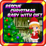 Rescue Christmas Baby With Gift