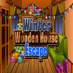 Winter Wooden House Escape