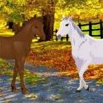 Autumn Forest Horse Escape