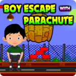 Boy Escape With Parachute