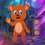 Cartoon Brown Bear Escape