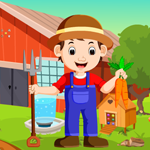 Cartoon Young Farmer Escape
