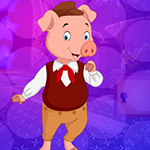 Cheerful Lady Pig Escape