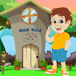 Cute Boy Escape From Green Garden House