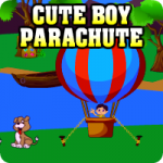 Cute Boy Parachute Escape