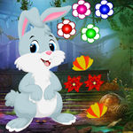 Cute Cartoon Rabbit Escape