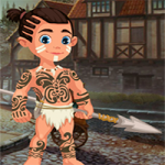 Cute Tribe Boy Rescue
