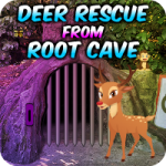 Deer Rescue From Root Cave