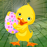 Duck Escape With Colorful Egg