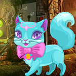 Fantasy Blue Cat Escape