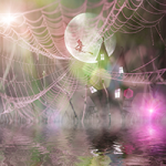 Halloween House In A Web Puzzle