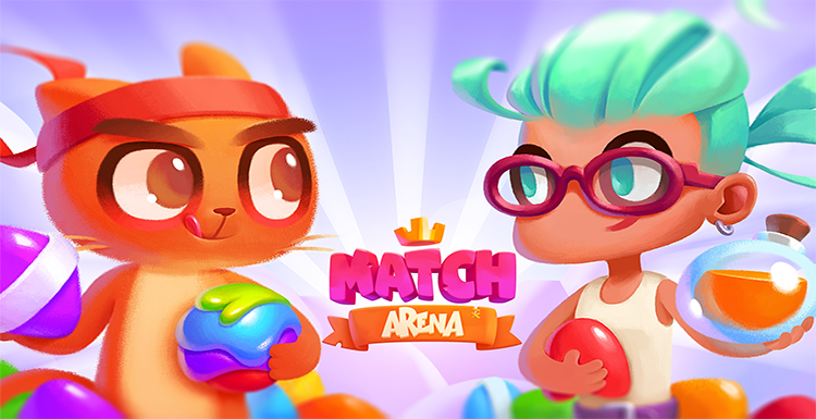 Image Match Arena Multiplayer Match 3 game