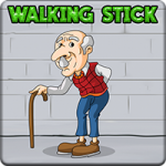 Old Man Walking Stick Escape