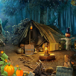 Pumpkin Forest Escape 8BGames