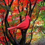Red Autumn Forest Escape