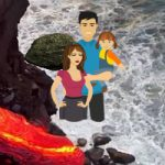 Rescue A Family From Volcano